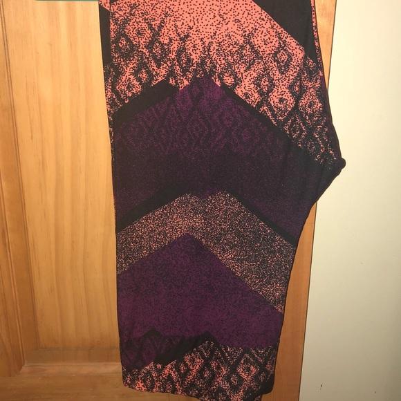 NWT TC LLR Color Fade w Aztec Print Leggings adac659d0e